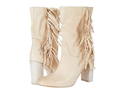 Free People Wild Rose Slouch Boot (Ivory) Women