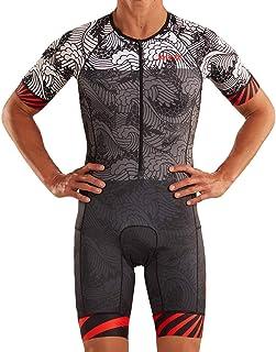Zoot Mannen Triathlon Racesuit Style Tokyo 2019 met mouwen, reflecterende elementen, SPF 50+, twee achterzakken en 23cm Fr...