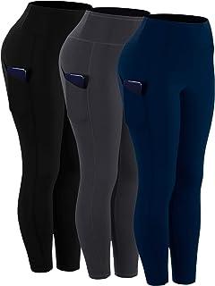 Cadmus kvinnors hög midja magkontroll leggings med två fickor