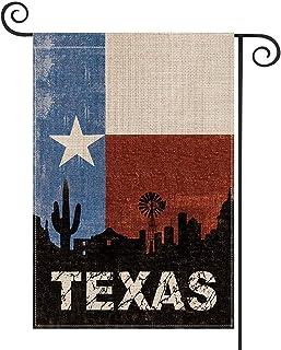 AVOIN colorlife Texas State Garden Flag عمودي مزدوج الوجهين ولاية النجمة الوحيدة، الصداقة الغربية الولايات المتحدة الأمريك...