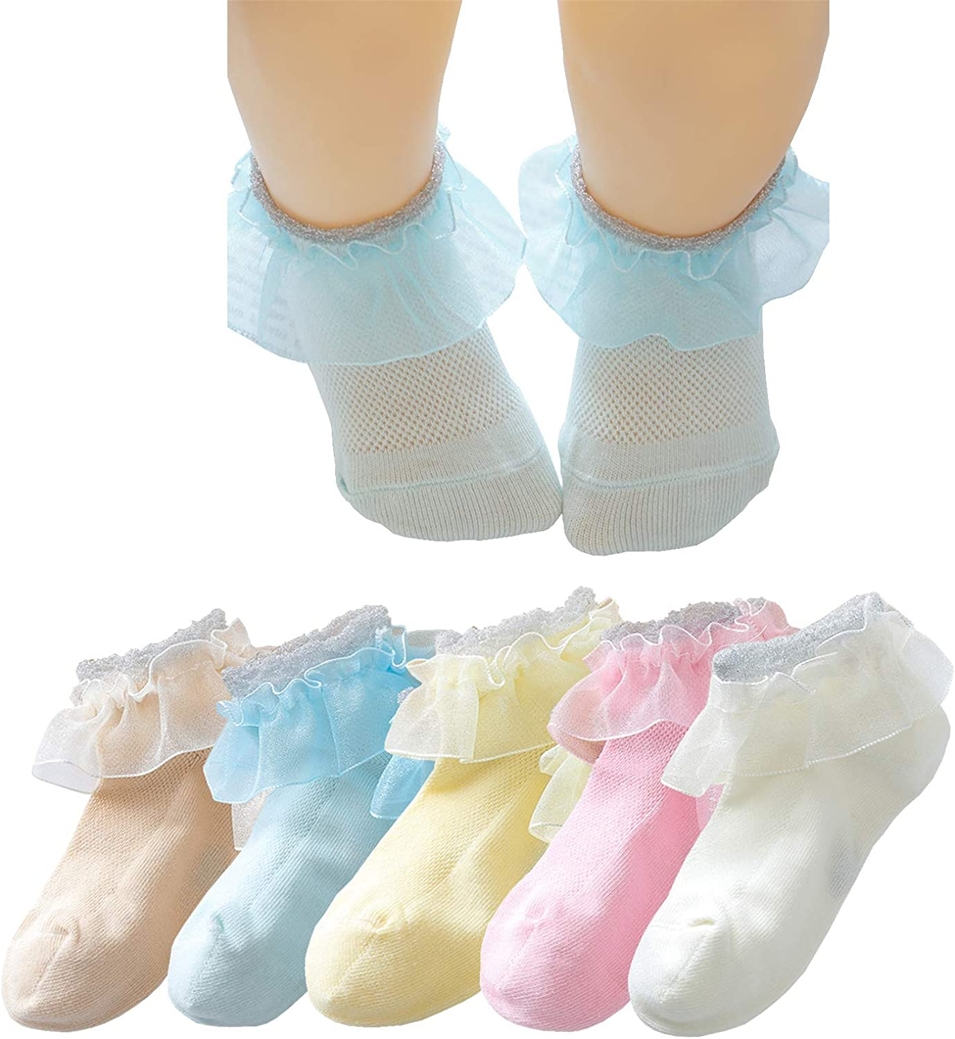 Rainbow Lace Frilly Ruffles excellence Princess Toddlers Max 85% OFF Socks Ankle Dress