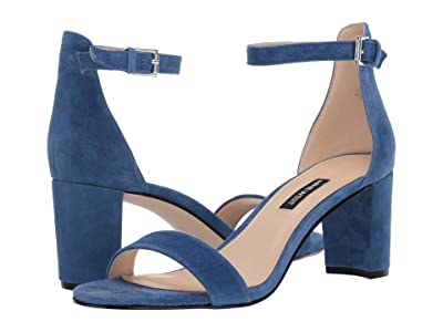Nine West Pruce Block Heel Sandal (Blue Iris 1) High Heels