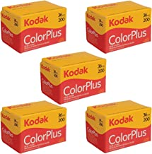 5 Rolls Of Kodak colorplus 200 asa 36 exposure (Pack of 5)