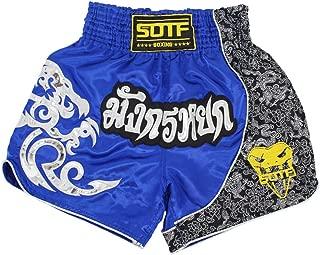 Muay Thai Fight Shorts for Kids Men Elastic Waist Kickboxing MMA Shorts