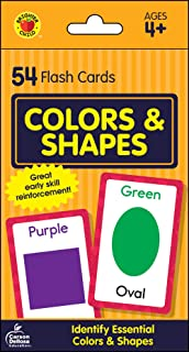 Carson Dellosa - Colors and Shapes Flash Cards - 54 Cards for Toddler / Preschool Learning, Skill Development and Identification, Ages 4+ (Brighter Child Flash Cards)