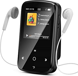 MP3 Player with Bluetooth 5.0, 32GB Music Player with FM Radio, Voice Recording, Photo Browsing, Video, E-Book, Pedometer,... photo