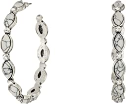 Hoops with Oval Stones Earrings