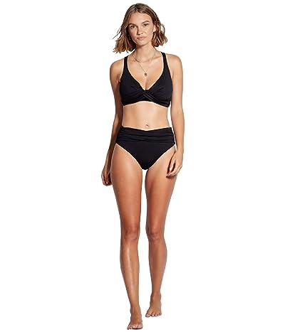 Seafolly High-Waist Wrap Front Bikini Bottoms