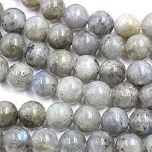 Fashiontrenda Natural Labradorite Round Gemstones Beads for DIY Jewelry Making (8mm)