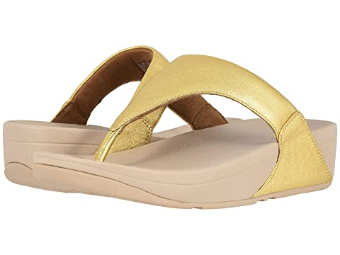 5fa56a7ad FitFlop Lulu Leather Toe Post Sandal at Zappos.com