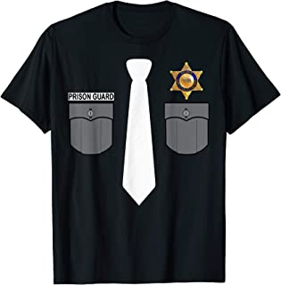 Prison Guard Correctional Officer Police Costume Funny Gift T-Shirt