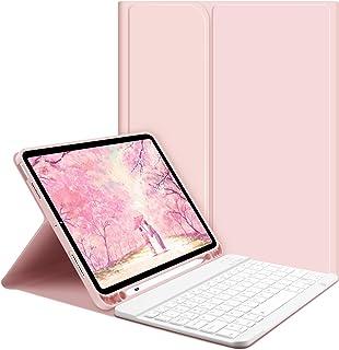 iPad Air 4 キーボード ケース GOOJODOQ 2020 iPad 10.9インチ専用キーボード付きケース Apple Pencilホルダー付き 脱着式 Bluetooth キーボード カバー シルク手触りカバー 角度調整 オートス...