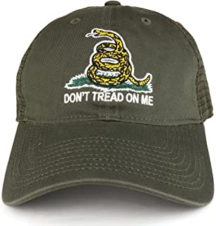 Armycrew Don't Tread On Me Gadsden Flag Embroidered Soft Front Mesh Back Trucker Cap