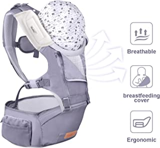 Bable Baby Carrier with Hip Seat, 6-in-1 Convertible Carrier, 360 Ergonomic Baby Carrier Backpack, Cool MESH for Spring and Summer - for 8-33lbs