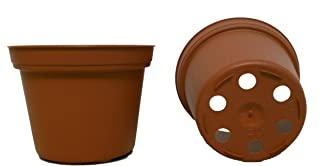 50 New 3 Inch Plastic Nursery Pots ~ Pots are 3 Inch Round at The Top and 2.25 Inch Deep. Color: Terracotta