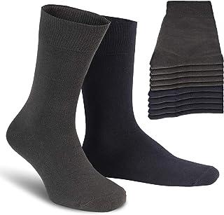 ALL ABOUT SOCKS, Calcetines Hombres y Mujer (5-10 Pares) - PREMIUM Calcetines ejecutivo de algodón para trabajo y ocio - Algodón Peinado - Hecho en Europe