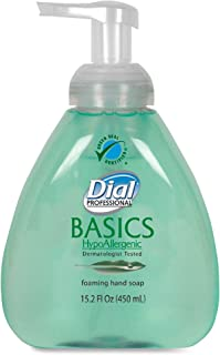 Dial 1437344 Basics Hypoallergenic Foaming Hand Soap with Tabletop Manual Pump, 15.2oz Bottle (Pack of 4)