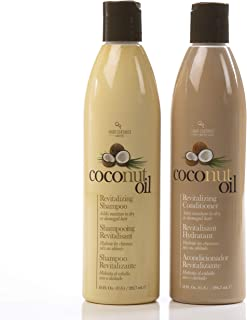 Hair Chemist Coconut Oil Revitalizing Shampoo 10 ounce and Conditioner 10 ounce (Combo)