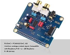 Wendry Tarjeta de Audio Digital HiFi Digi, Interfaz I2S PiFi Digi DAC + Tarjeta de Audio Digital HiFi Digi para Raspberry PI 3 Modelo B/2B/B, Chip DAC actualizado, Chip PCM5122 de Gama Alta