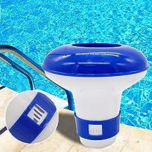 Dispensador de cloro, flotador de tabletas flotantes químicas, dispositivo de dosificación automático de caja de drogas para piscina Spa Hot Tub - 5 pulgadas
