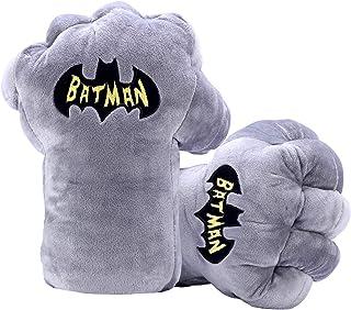 EQUASIS Batman Gloves Plush Gauntlets Hands Soft Boxing Fists, DC Comics Justice League Batman Toys, 1 Pair
