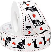 Morex Ribbon 5682 Precious Pets - Cat Mom Ribbon 1.5 inch by 20 Yards White