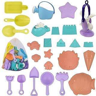 ToyerBee Sand Toys – 26Pcs Beach Toys with Molds, Wheel, Shovel, Castle, Bag- Toys for Boys & Girls & ToddlersToyerBee Sand Toys – 26PCS Beach Toys with Molds, Wheel, Shovel, Castle, Bag- Toys for Boy