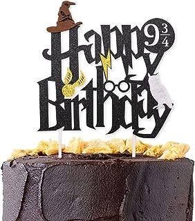 happy birthday harry potter cake topper