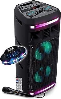 Enceinte Autonome Pickering FX62 - SONO DJ -300W - USB SD Bluetooth - 2x Boomers 16cm à LED RVB + Jeu de lumière OVNI