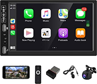 $95 » Hodozzy Double Din Car Stereo Car Play Bluetooth Car Radio 7'' HD Touch Screen Car Multimedia Player Head Unit Support Wir...