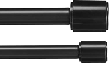 AmazonBasics 2,54 cm Double Curtain Rod with Cap Finials, 1,83 to 3,65 m , Black