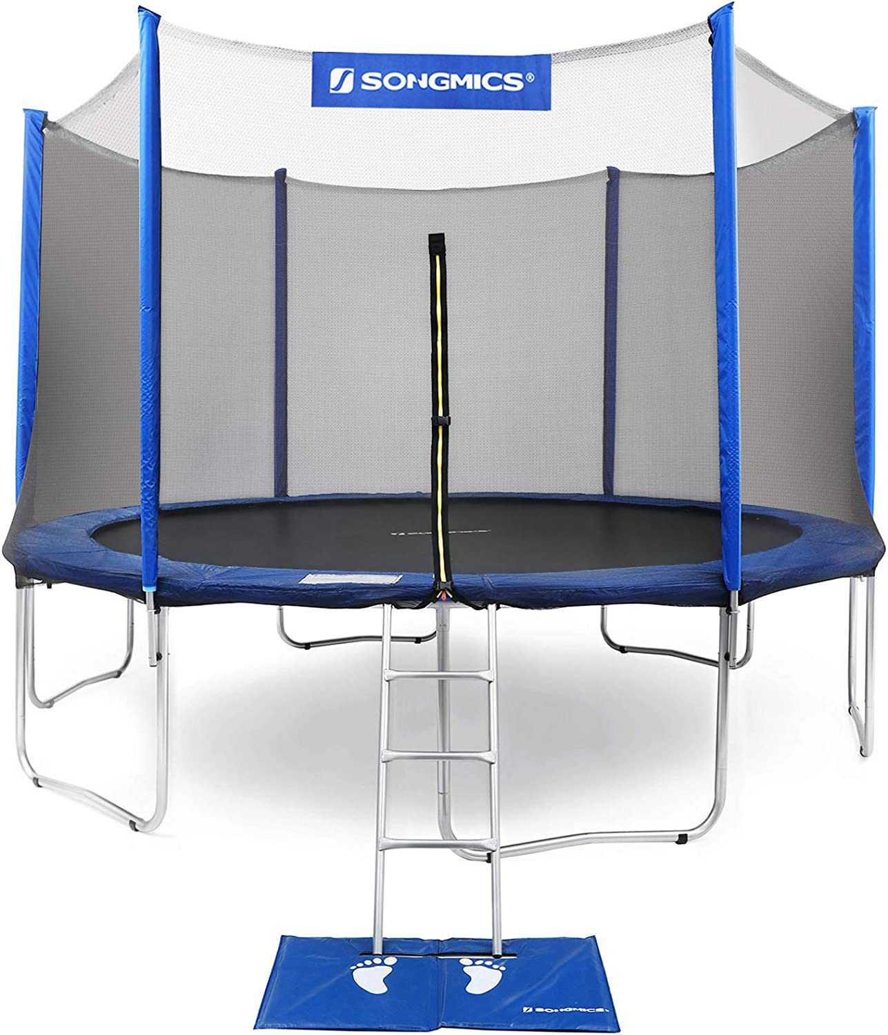 SONGMICS Trampoline with Enclosure Net Pad Safety Ladder Jump Free shipping 2021