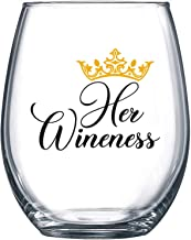 Her Wineness - Funny Wine Glass 15oz - Perfect Gift for Women, Girlfriend, Wife, Mom - Gag Gift