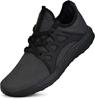 Guteidee Mens Sneakers Gym Running Walking Sport Lightweight Breathable Mesh Casual Shoes