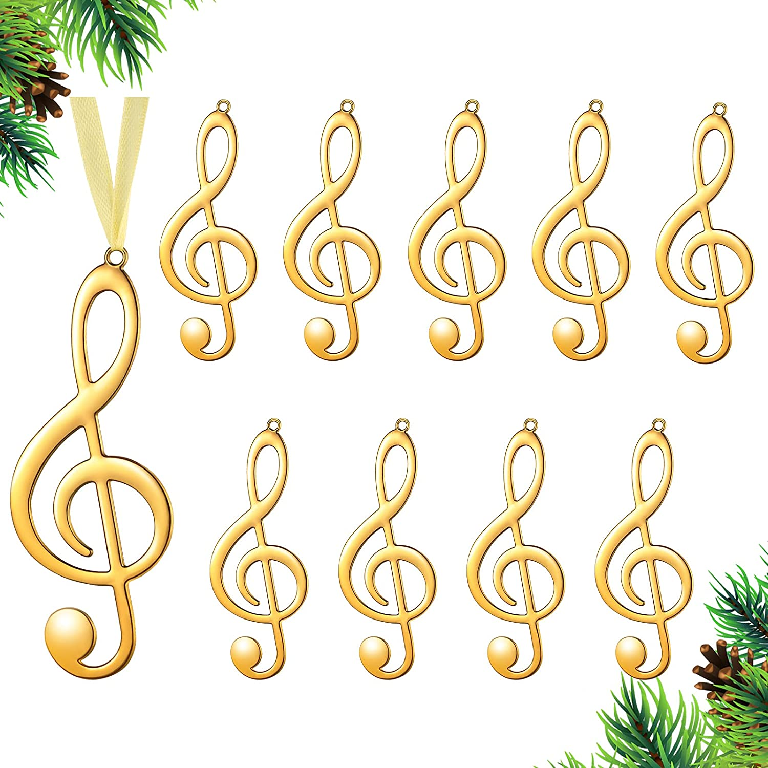 Christmas Department store Treble Clef Max 50% OFF Ornaments O Note Hanging Musical