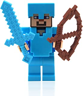 LEGO Minecraft Steve with Diamond Armor and Sword