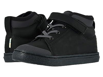 TOMS Kids Cusco (Toddler/Little Kid) (Black Leather) Kid