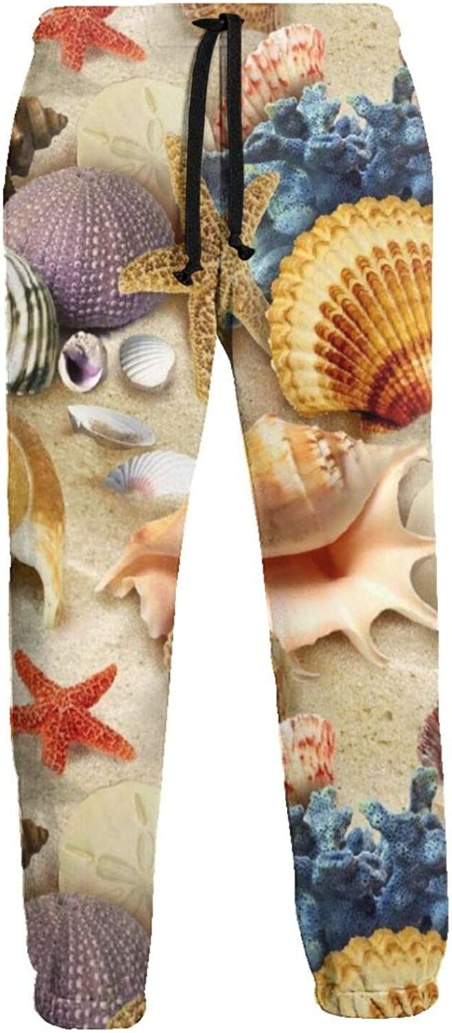 Mens Sea Snails and Scallops Sweatpants Fort Worth Mall Waist Our shop OFFers the best service Elastic Athletic