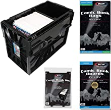 BCW Starter Comic Book Storage Kit - Storage Box, Dividers, Resealable Bags, Backing Boards