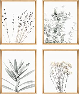 Botanical Plant Wall Art Prints- Sets Of 4 (8x10 '') Unframed Wall Decor- Pictures Minimalist Wall Art Photo - Nordic Styl...