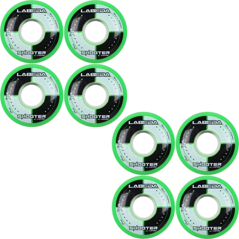 LABEDA wheels Inline Roller Hockey Shooter 8 Pack (59mm)