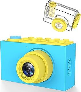 Kriogor Caméra étanche pour Enfants, 2 Pouces 10m Appareil Photo Numérique pour Enfants + 8 mégapixels + Couverture étanch...