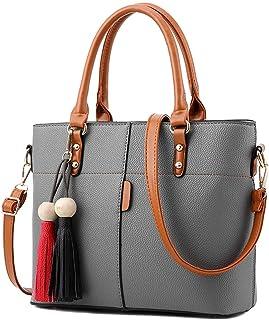 Darash Fashion Womens PU Tot Bags, oteawe Women Purses and Handbags Casual Crossbody Shoulder(Gray)