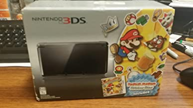 Nintendo 3DS COSMO BLACK With PAPER MARIO STICKERSTAR BUNDLE