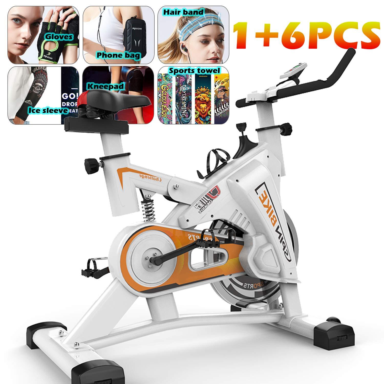 YYBF Bicicleta Estática De Spinning Profesional, Bicicleta Spinning Indoor, Ajustable Resistencia, Pulsometro, Ergonómica, Cardio Trainer, Gift Set 6 Piezas,Amarillo: Amazon.es: Hogar