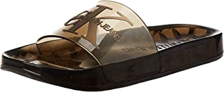 Calvin Klein Elmos Men's Fashion Sandals, Translucent (Clear), 42 EU