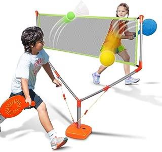 Duckura 2 in 1 Racket Game Set, Family Badminton Tennis Outdoor Play for Kids Boys Adults