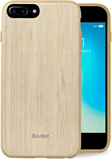 Evutec Case Compatible with iPhone 6 plus/6s plus/7 plus/8 plus, wood thin slim lightweight protective durable case cover -Bamboo (AFIX+ Vent Mount Included)
