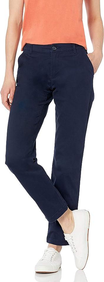 Women's Curvy Fit Full Length Straight Leg Chino Pant