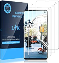 LK [3 Pack] Screen Protector for Samsung Galaxy S10, (Ultrasonic Fingerprint Compatible)..